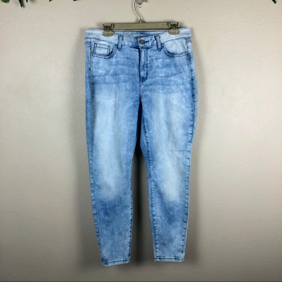 NWD Lane Bryant skinny genius fit pale blue distressed jeans womens plus size 26